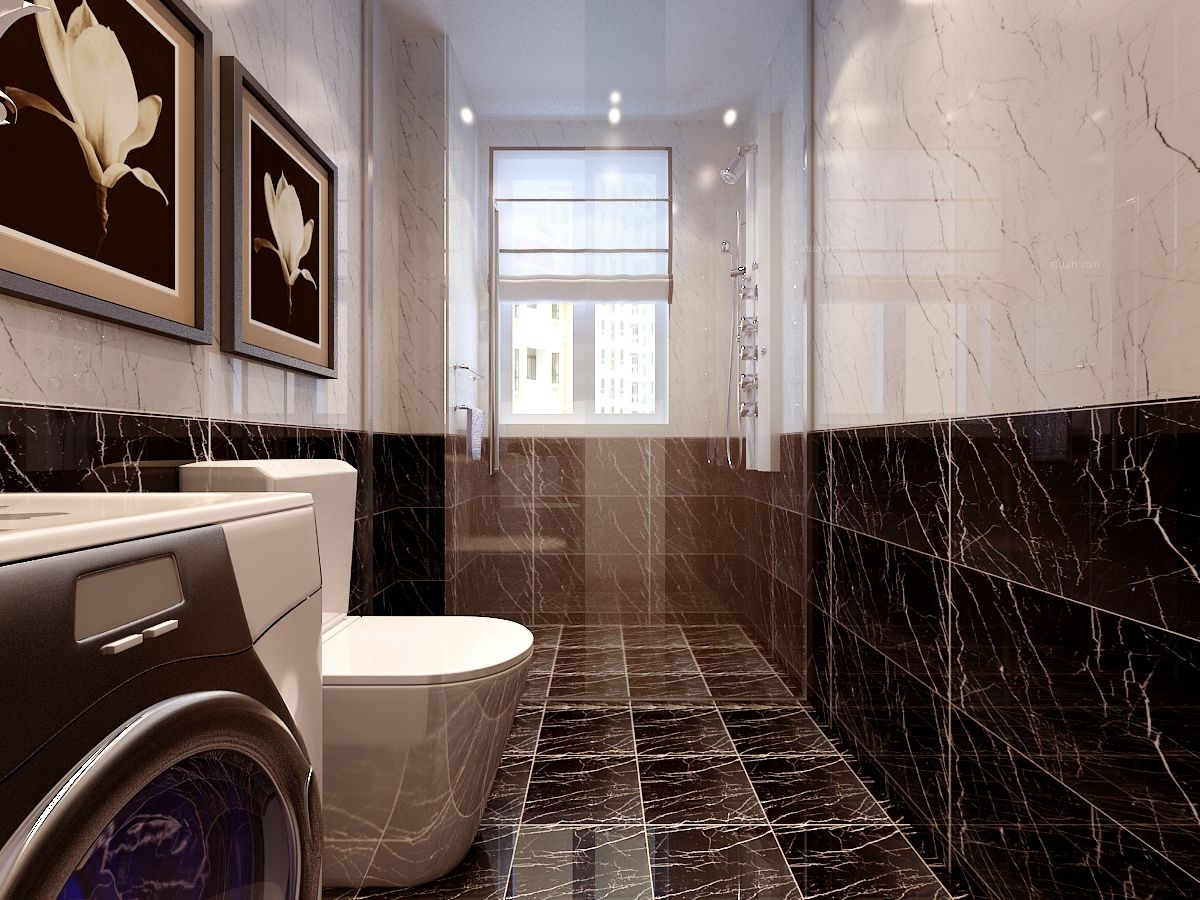 三居室现代风格卫生间软装