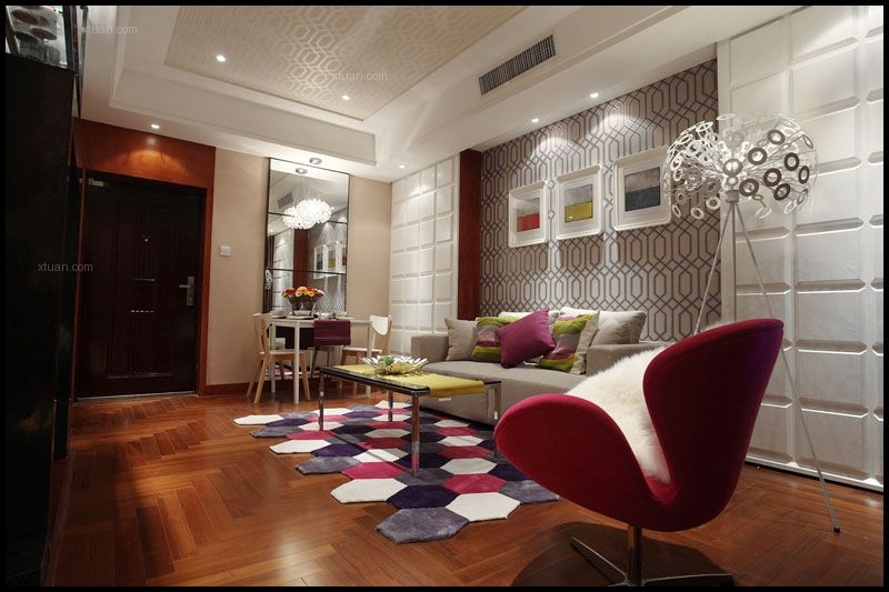 一居室现代风格客厅