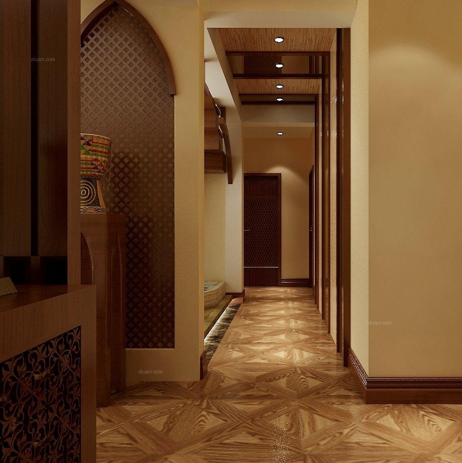 三室两厅东南亚风格过道