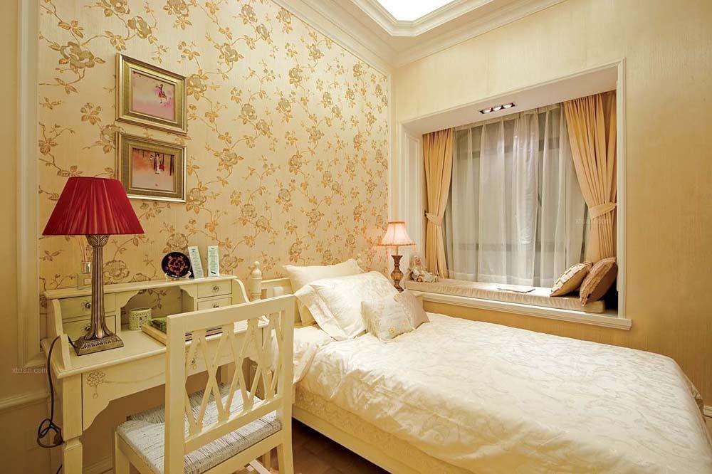 两室两厅简欧风格卧室_华润二十四城装修效果图图片