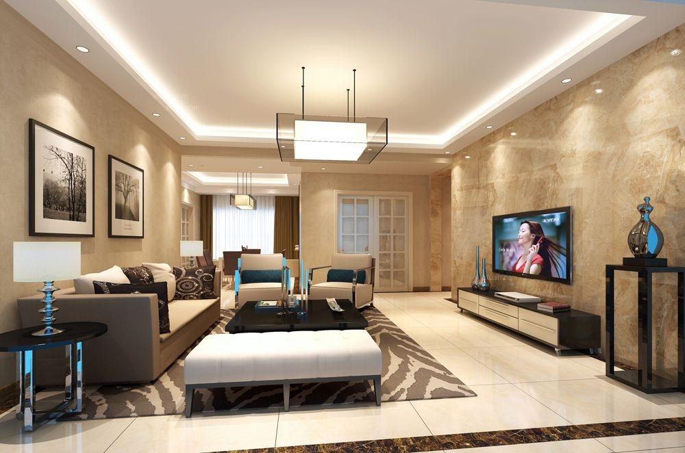 四居室现代风格客厅照片墙