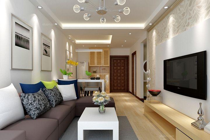 56000元             花果园三室两厅客厅现代简约 帮我出个设计