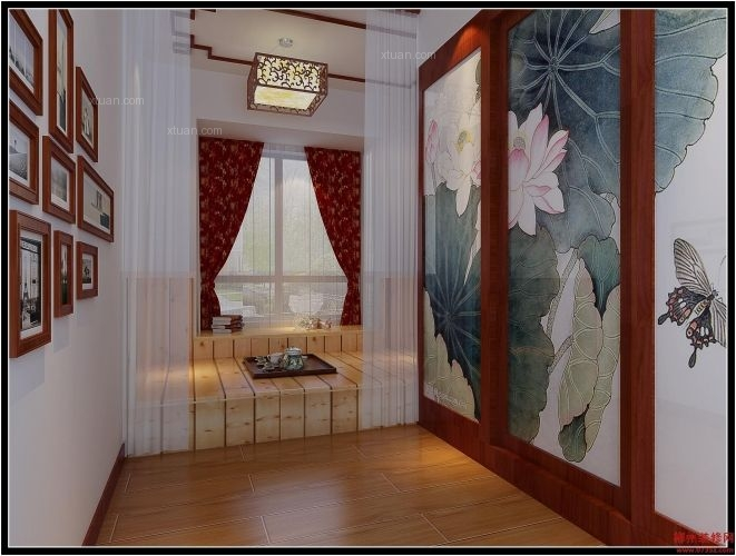 四居室现代风格过道