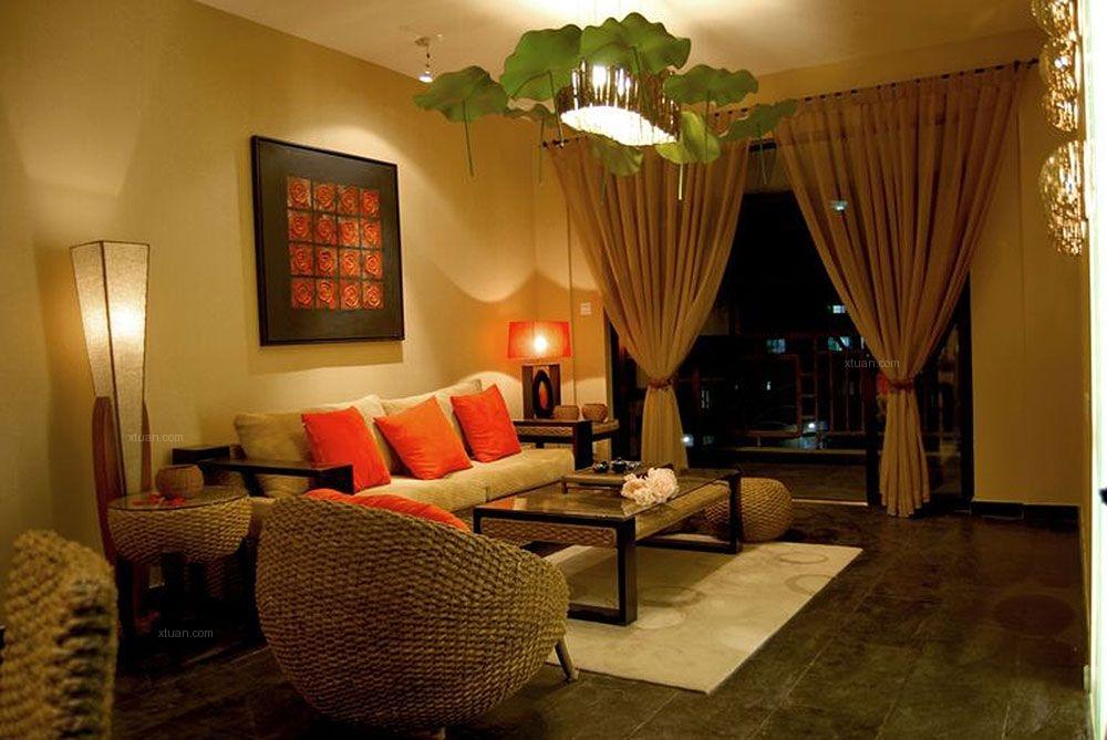两室两厅东南亚风格客厅