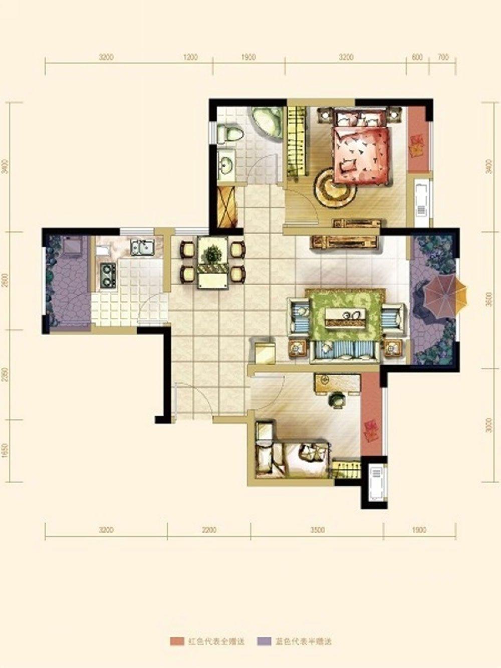 两室两厅东南亚风格过道