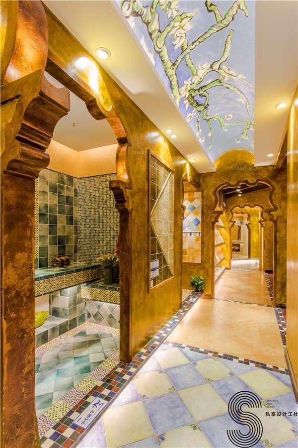 成都商铺设计装修—(成都私享工社)梵高艺术瓷砖店铺设计