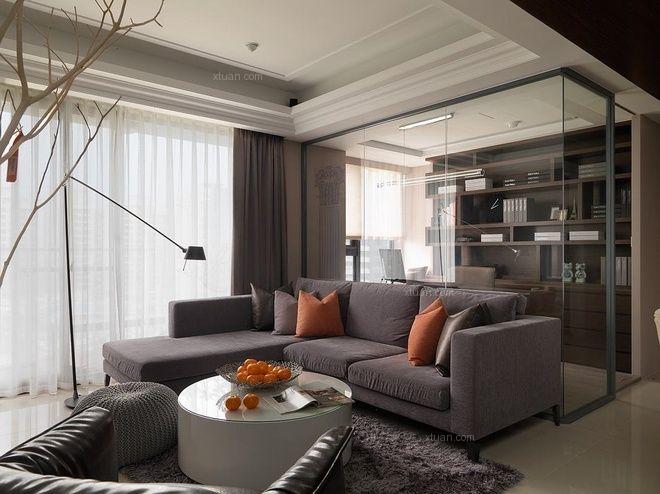 三居室古典风格客厅客厅隔断
