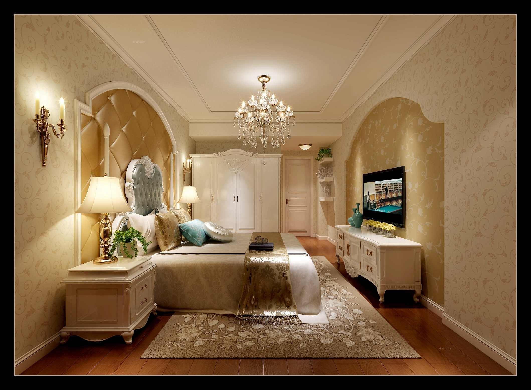 三居室欧式风格卧室图片