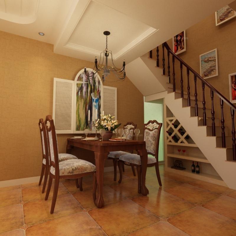 三室两厅美式风格客厅软装
