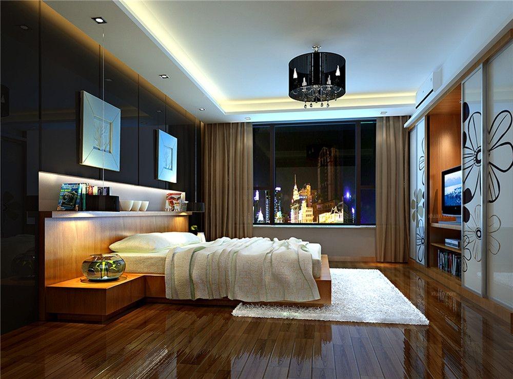 三居室欧式风格主卧室卧室背景墙