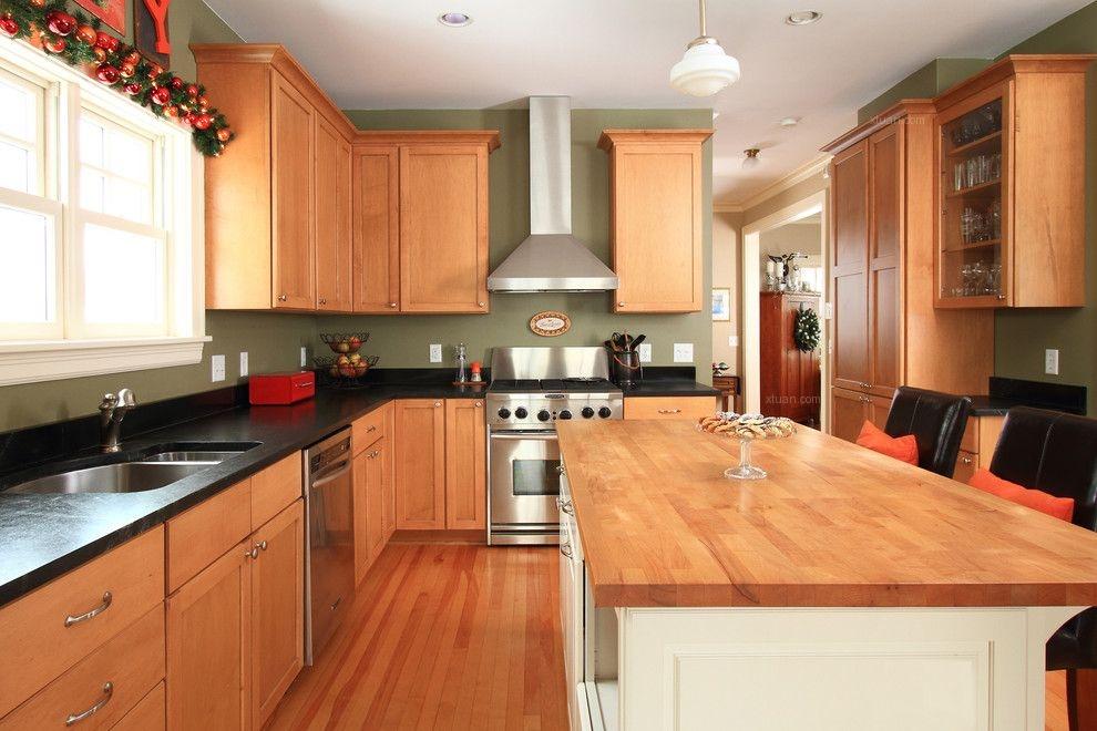 复式楼田园风格厨房图片