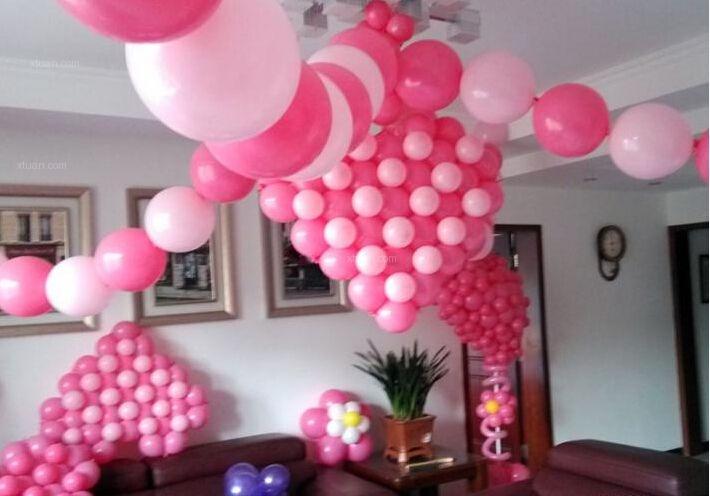 婚房气球布置,温馨又浪漫的新家照片-x团装修网