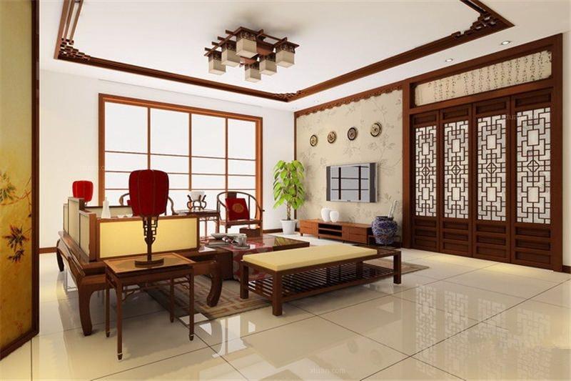 古典别墅简约中式装修效果图
