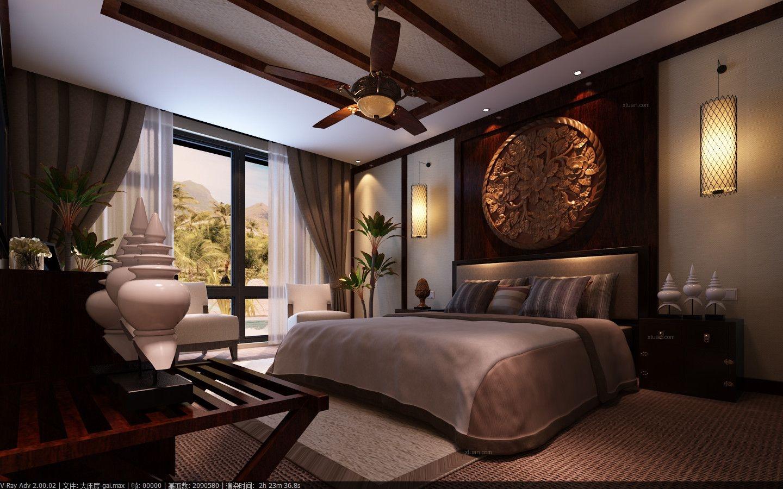 别墅东南亚风格卧室