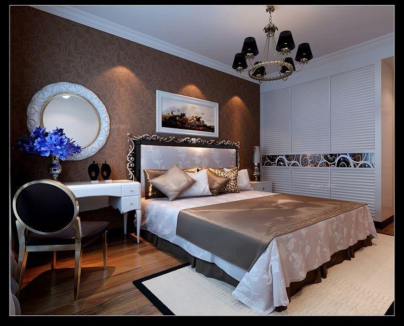四居室简约风格卧室卧室背景墙