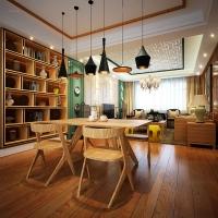 艺术家园三居室现代中式风格