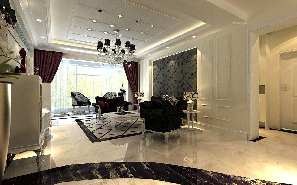 四居室现代简约客厅软装