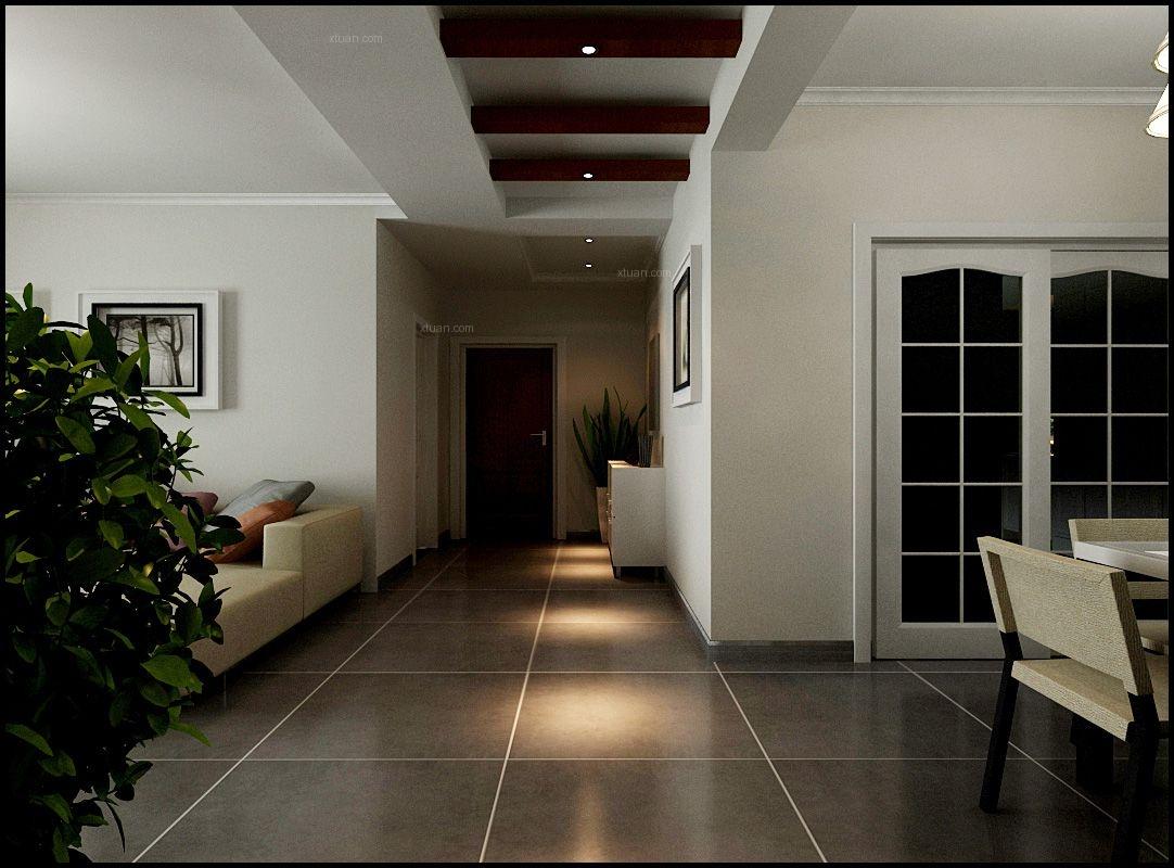 四居室现代简约过道圆形吊顶