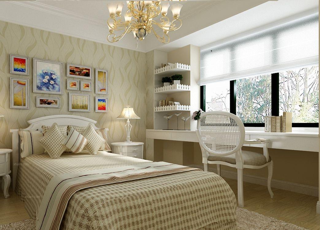 别墅欧式风格婴儿房照片墙