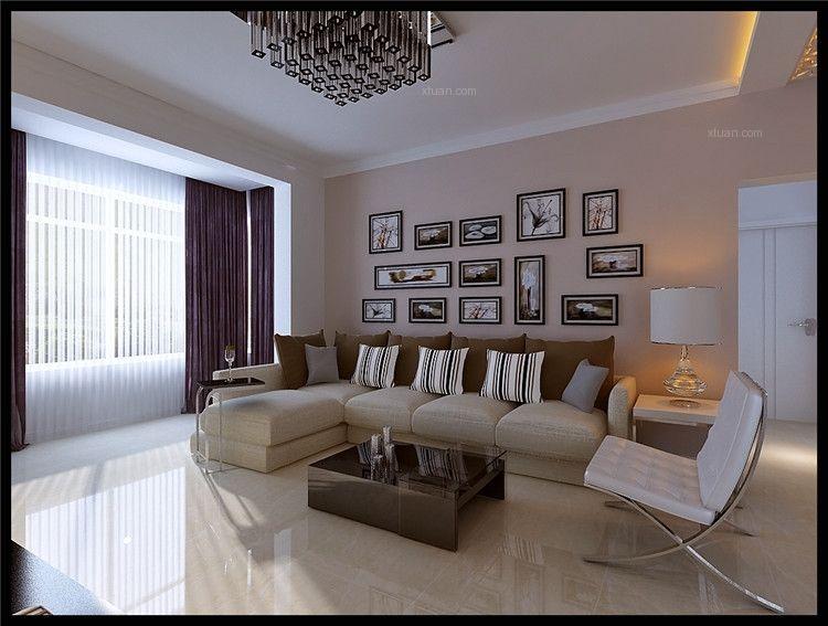 中海环宇天悦88平两居室 现代简约风格设计效果图