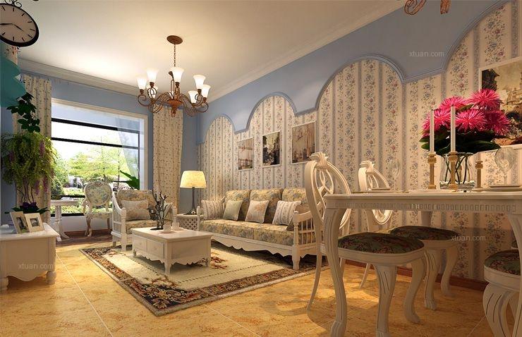 盛润锦绣城-三室两厅-地中海风格