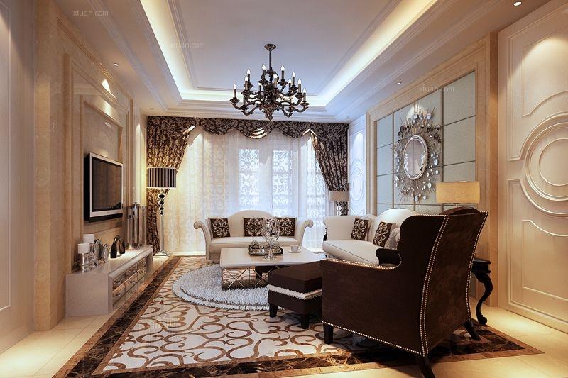正商铂钻-四室两厅-美式设计