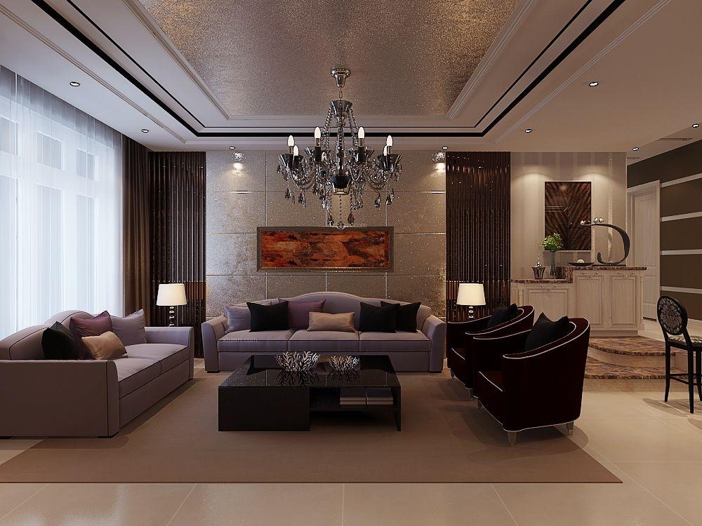 客厅油画现代沙发