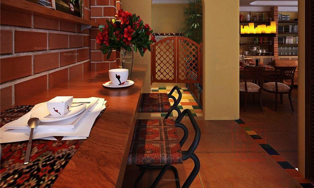 三室两厅东南亚风格餐厅