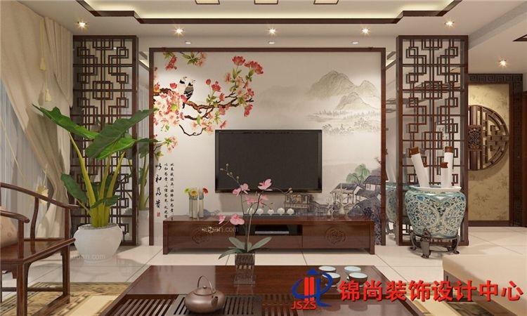 紫竹名苑中式风格装修效果图