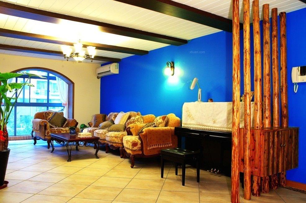 四居室东南亚风格客厅