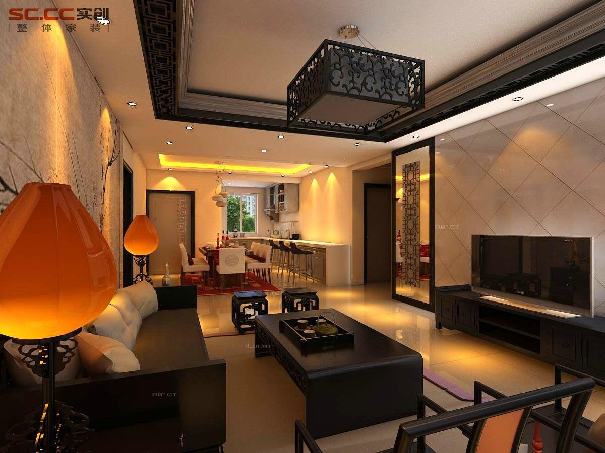 四居室中式风格客厅厨具