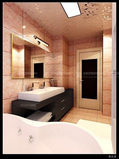 三室一厅现代风格浴室软装