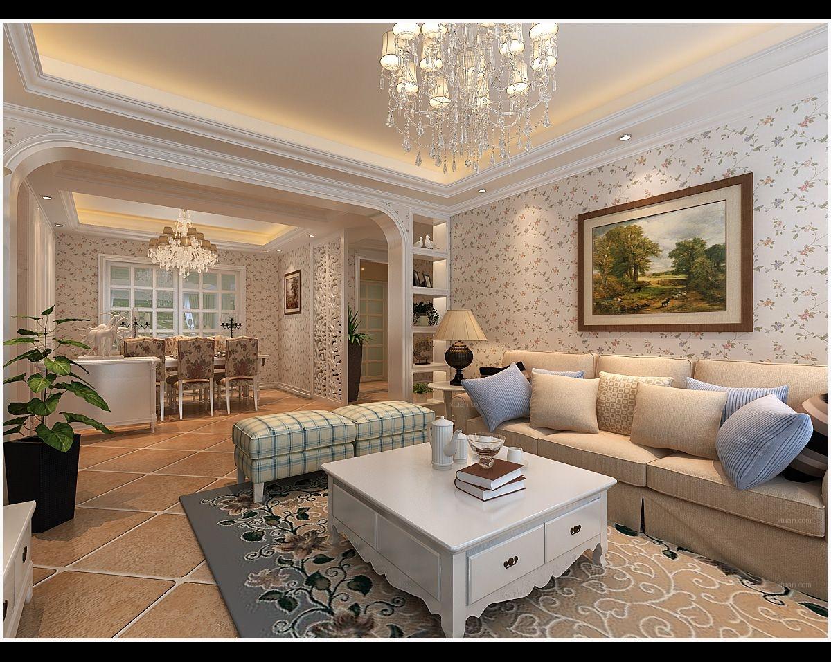 四居室简欧风格客厅客厅隔断