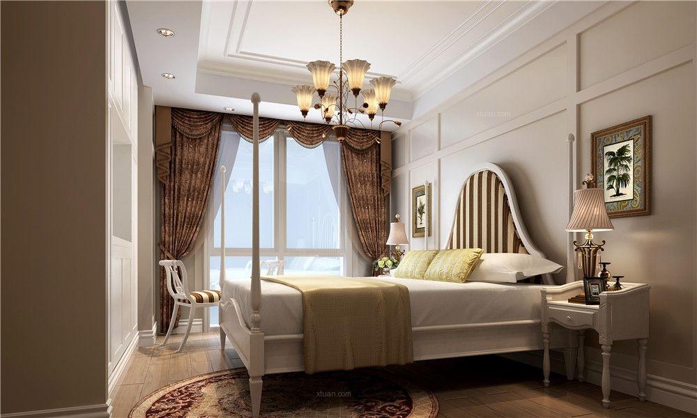 两室两厅简欧风格卧室_东冠繁华逸城装修效果图图片