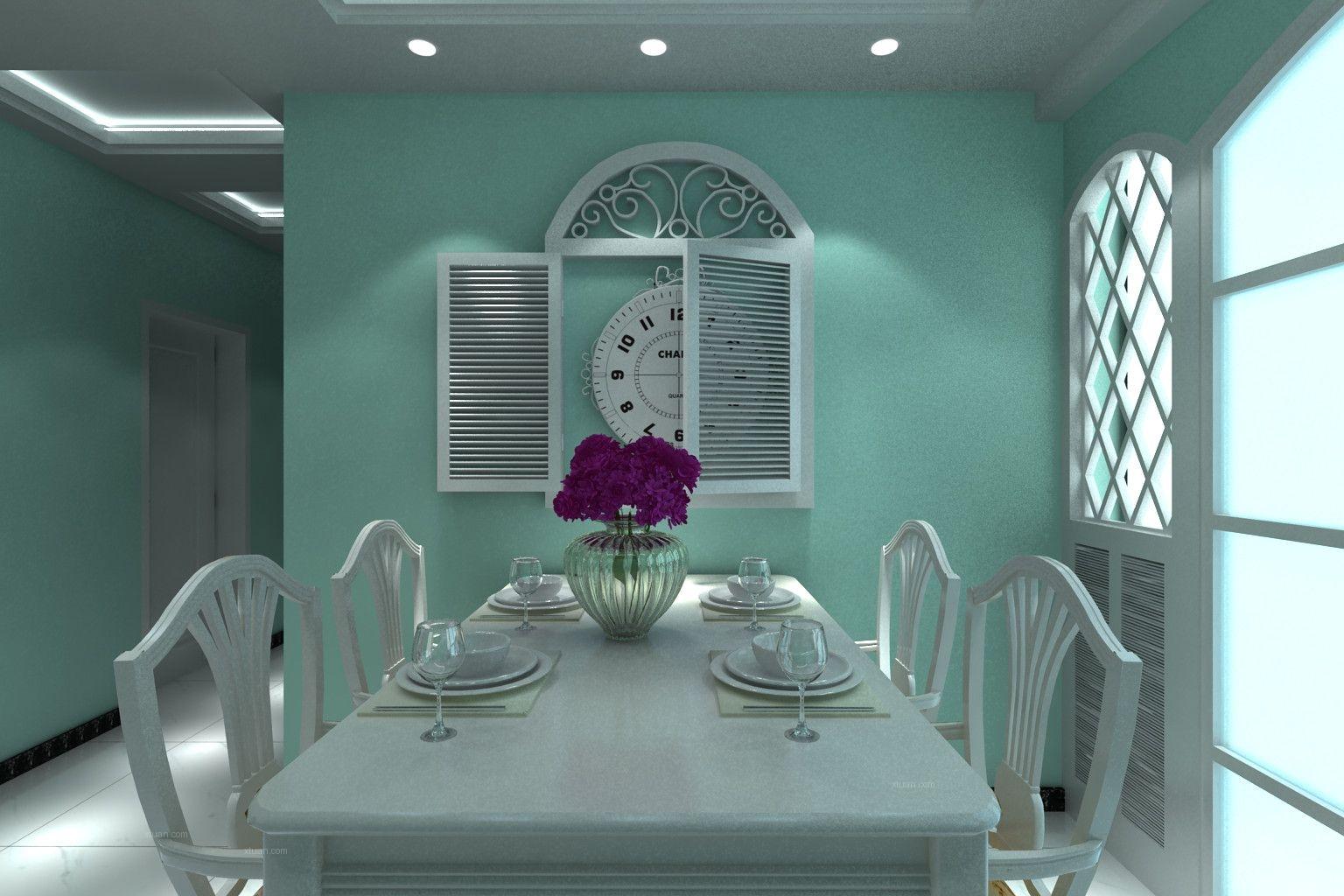 魅力主妇8.8万打造蓝白清新田园90平两室两厅