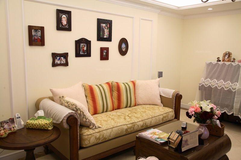 三居室美式风格主卧室_中海锦城装修效果图-x团装修网图片