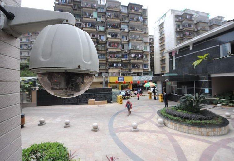 小区及地下停车场监控摄像头装修效果图-x