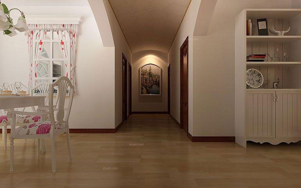 三室两厅田园风格过道