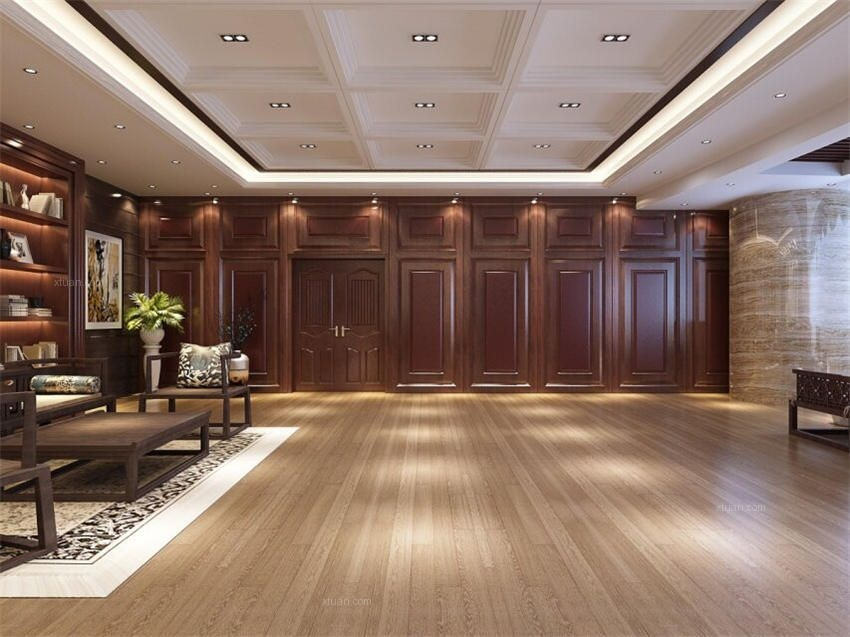 中式设计会所装修空旷而悠远