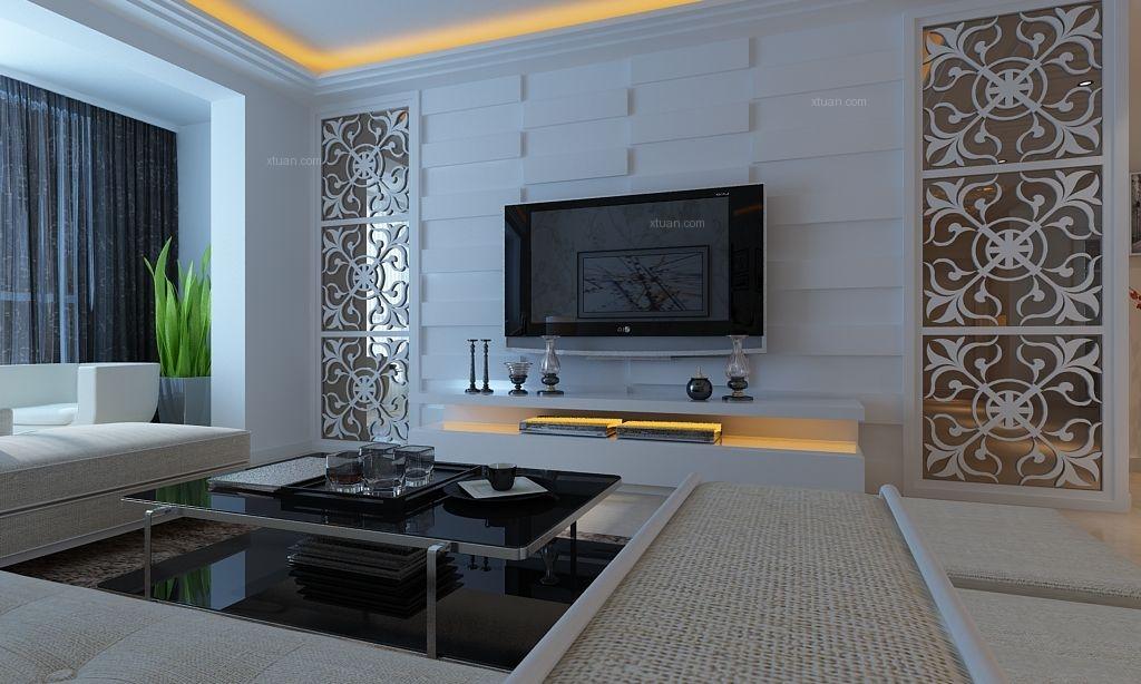 中海寰宇天悦简约效果图 130平三居室现代风格设计
