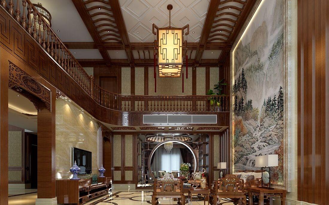 中式风格餐饮空间_古典新中式餐厅设计装修效果图-x图片