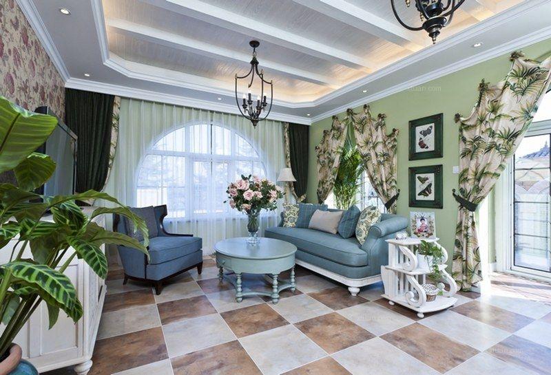 东方普罗旺斯装修案例由尚层别墅装饰设计