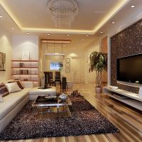 128平三室二厅二卫现代简欧装修效果图