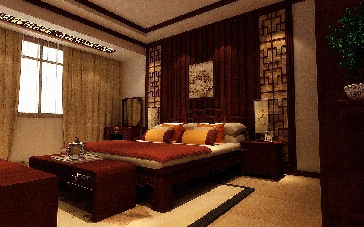 大户型中式风格卧室图片