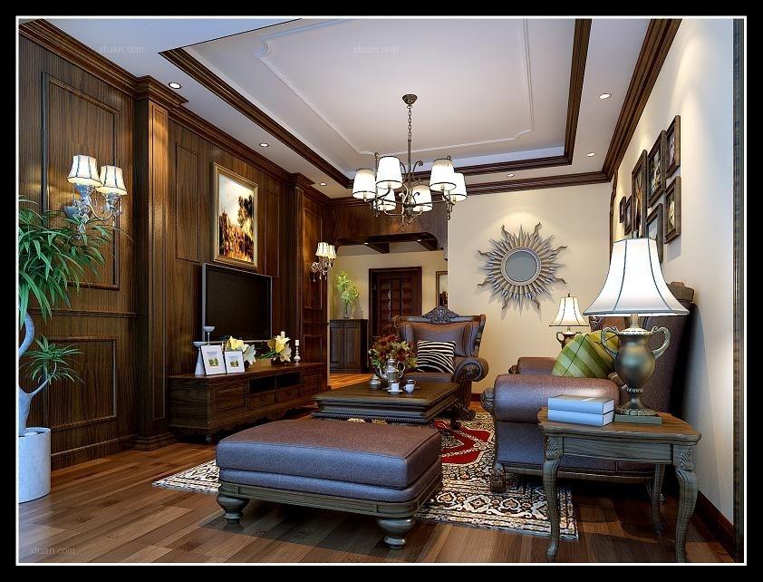 两室两厅中式风格客厅厨具