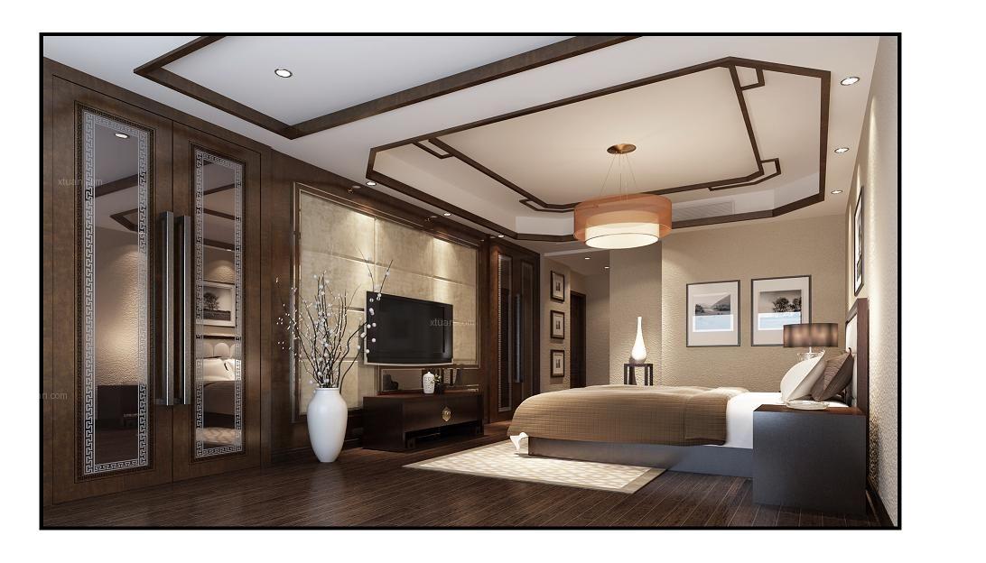 复式楼新古典客厅软装_溪湖春天-新中式-复试装修效果图片