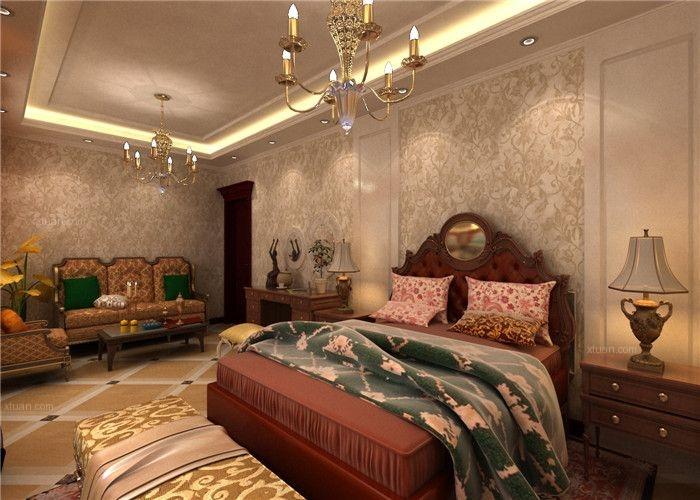 紫竹院85平奢华经典欧式,两居改一居套房