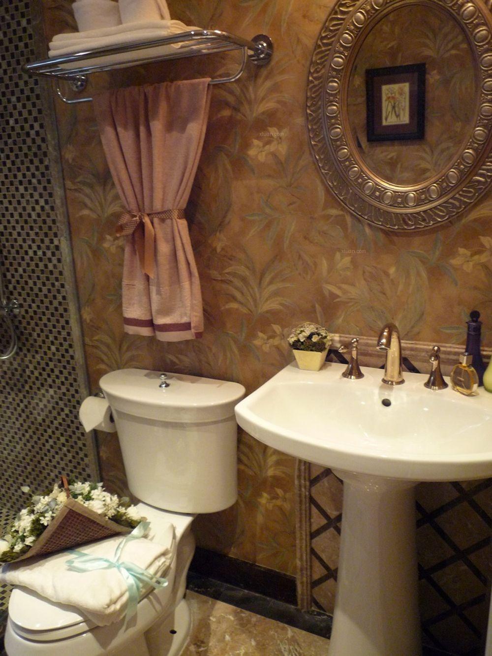 两室两厅混搭风格卫生间