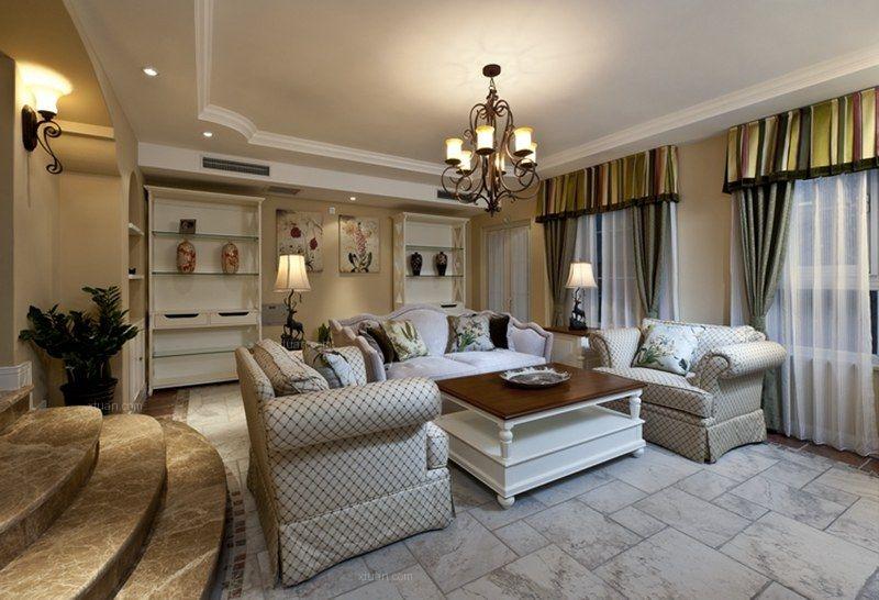 联排别墅美式风格休闲区