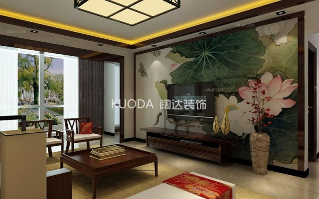 盘龙区北泰花园130平方米新中式风格中户型8.6万元